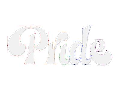 Pride illustration letters design illustrator letter vector lettering