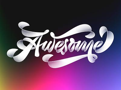 Awesome illustration shadows illustrator design letters letter vector lettering