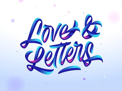 Love & Letters ui logo colors illustration shadows illustrator design letters letter vector lettering