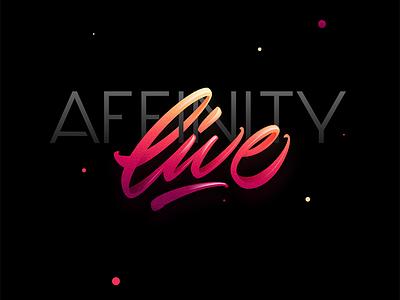 Affinity Live affinity live serif app mark design vector logo letters lettering affinitydesigner