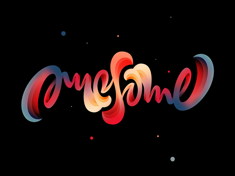 Awesome vector lettering awesome affinitydesigner