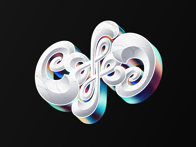 Coffee!! shadows letters design texture color coffee ambigram lettering letter