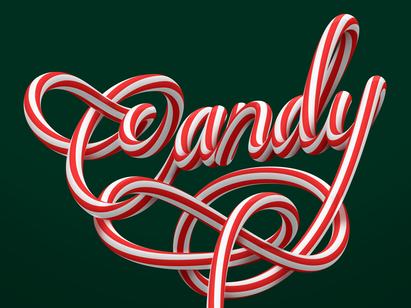 Candy! christmas color lettering letters candy