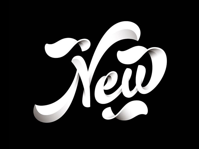 New Year! design shadows letter lettering letters