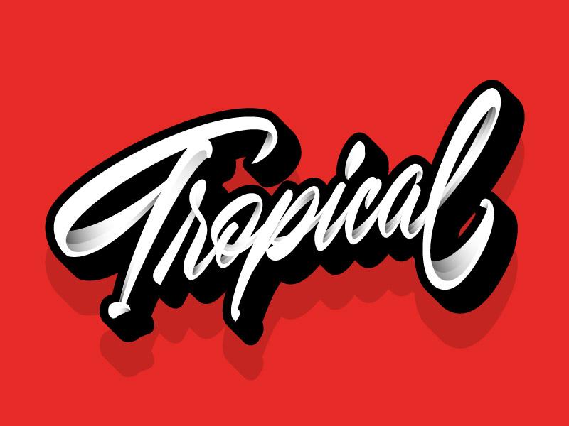 Tropical 🌴 affinitydesigner illustration letter vector shadow lettering tropical
