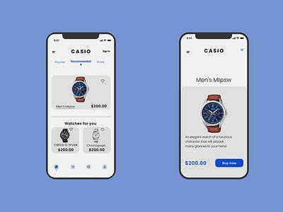 Casio-Online Shop mobile online app ux shop design ui