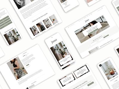 June WordPress Theme blog design wordpress theme