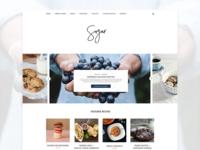 Sugar - Food Blog Design