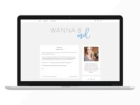 Wanna B MD - Blog Design