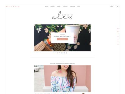 Adored By Alex fashion blogger web design branding
