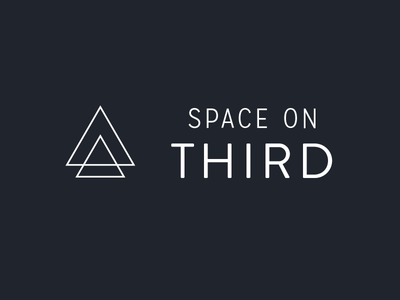 Space on Third triangle logo branding