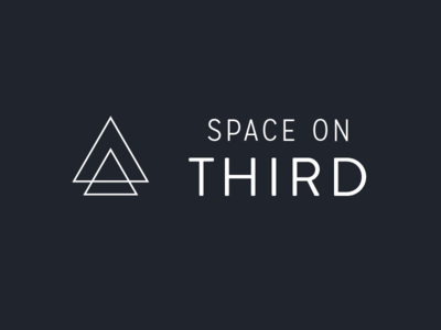 Space on Third triangle logo branding