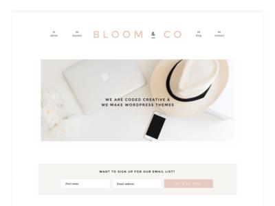 Bloom WordPress Theme