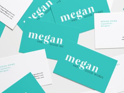 Megan Has Good Words   Business Card Design