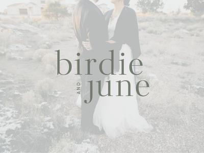 birdie + june logo photographer serif