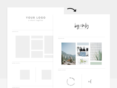 Brand + Mood Board Templates