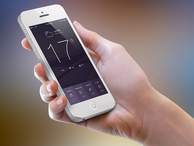 Weather App weather ui creative ios ios icon iphone iphone ui mobile mobile psd mobile site news news site