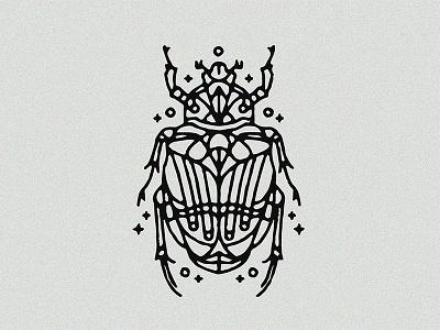 Scarab - Tattoo tattoo design graphic illustration scarab animal beetle linework dynamic lines