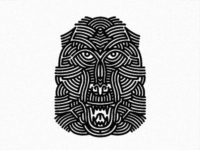 Gibbon - (for) Print lines bold screen printing print design tattoo animal lifework illustration monkey gibbon