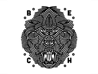 another monkey - (for) Print print design screen printing monkey graphic animal design tattoo illustration lifework
