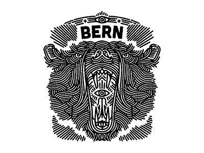 bear - (for) print design graphic illustration screen printing print animal bear lifework