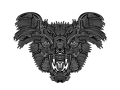 koala - (for) print bear design graphic illustration screen printing print animal koala lifework