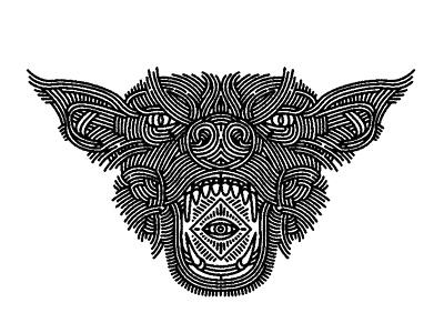 dog - (for) print angry design graphic illustration screen printing print animal dog lifework