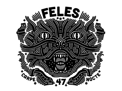 angry cat night vandal feles printing linework illustration graphic design cat beast animal