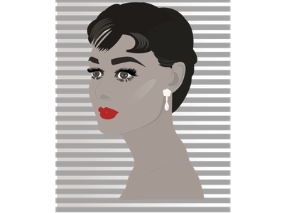 Audrey Hepburn minimal illustration design