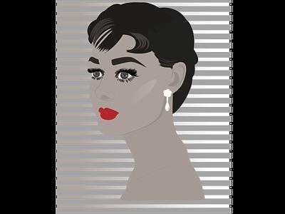Audrey Hepburn minimal illustration design