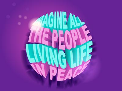 John Lennon design art colors vector minimal illustration logo branding graphic design 3d