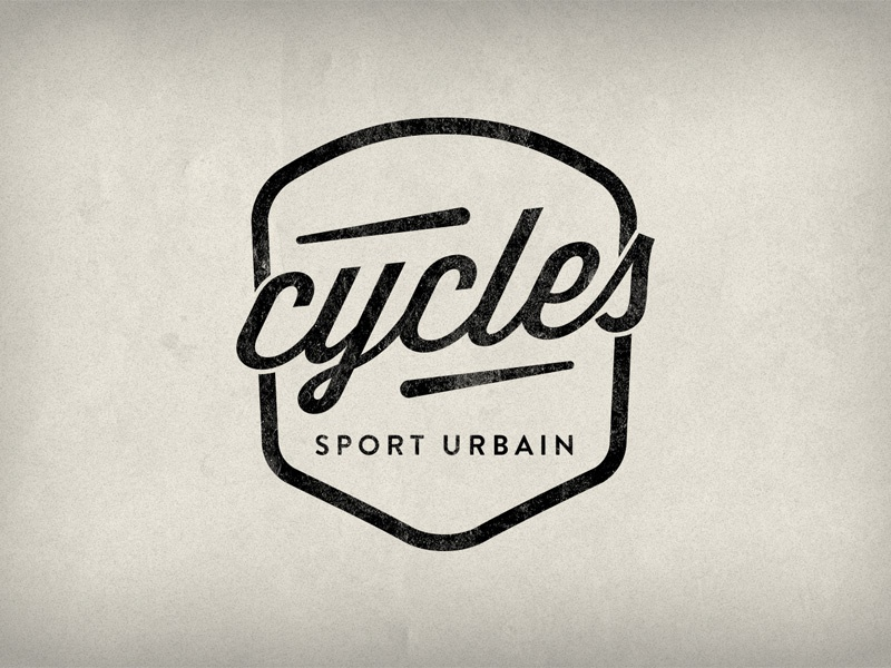 Cycles Sport Urbain logotype logo bike fixed gear shop paris badge cycle bicycle brand branding