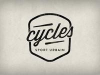 Cycles Sport Urbain logotype logo bike fixed gear shop paris badge cycle bicycle brand branding