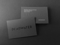 DEADWATER Business Cards screen printing paper typography identity hot foil business cards sirio black print stationary letterpress logotype