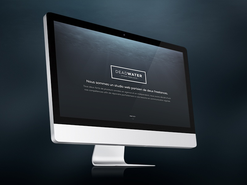 DEADWATER Splashscreen coming soon preview splashscreen underwater