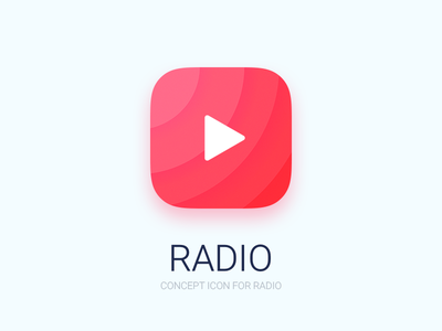 Radio Icon  clean ios icon radio fm ui dailyui concept media music player