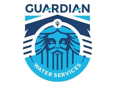 Guardian Water Services graphic design outdoor camp badge branddevelopment branding logo