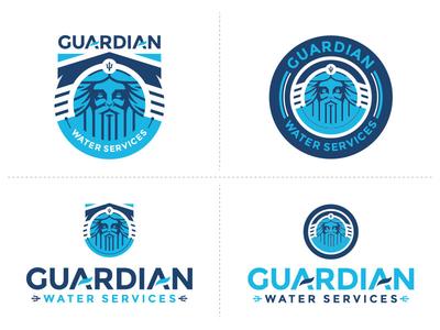 Guardian Water Services Alternates graphic design outdoor camp badge branddevelopment branding logo