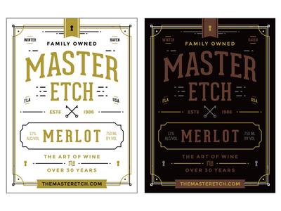 Master Etch Wine Label