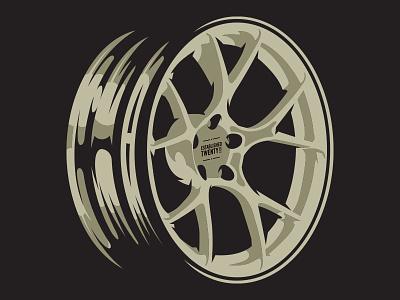Wheel Illustration vector vectorart illustration graphic design streetrace brand branding logo
