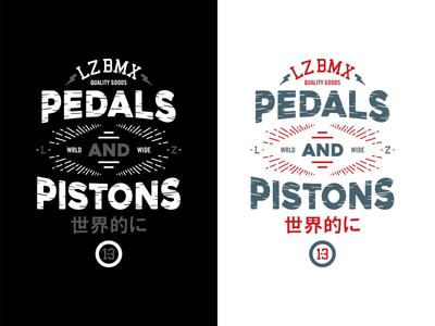 Pedals and Pistons art illustration type vectorart bikes typography bmx