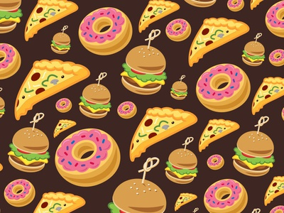 Yummy Background type typography icon illustration logo branding pizza food