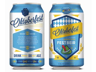 Oktoberfest illustration design typography sticker label packaging branding beer