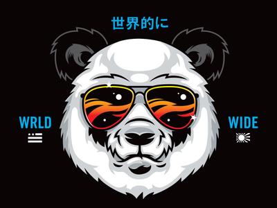 Panda vectorart illustration art panda scifi design branding logo