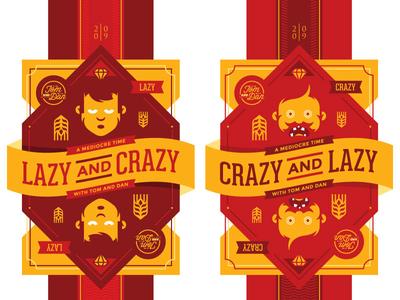 Crazy and Lazy / Lazy and Crazy craftbeer beer vectorart illustration art design branding logo