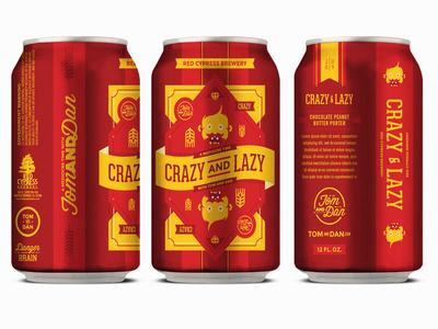 Crazy and Lazy / Lazy and Crazy beer craftbeer vectorart illustration art design branding logo