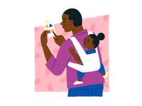 Product illustration for Brave Care parents parenting parent kid portland startup doctor hospital children healthcare health pediatrician pediatrics pediatric product illustration illustration library