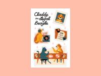 Mascot Stickers pet record dj lunch legaltech doggo legal dog startup tech mascot