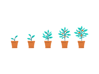 Spot illo for an email denoting scheduling of benefits