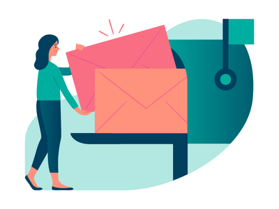 Mail. Mail. Mail. html code developer woman illustrator illustration design forms form email